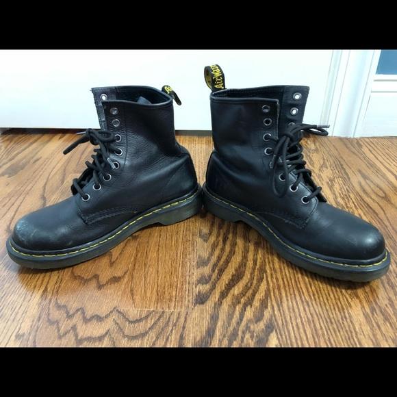 Dr. Martens Shoes - Black soft raw leather doc martens women s 7 e1725b6771